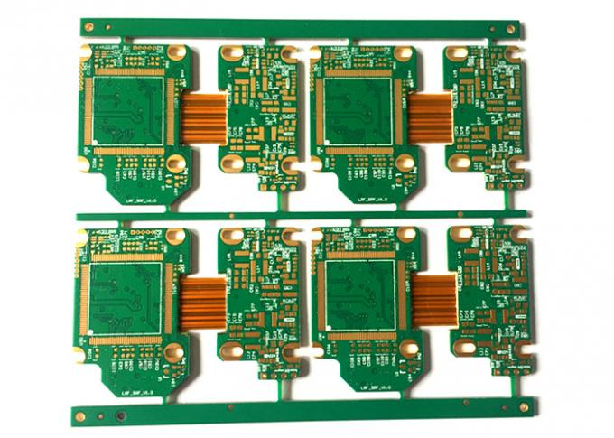 Matt Green 4 Layer Rigid Flex PCB , Fr4 Rigid PCB Board Manufacturer