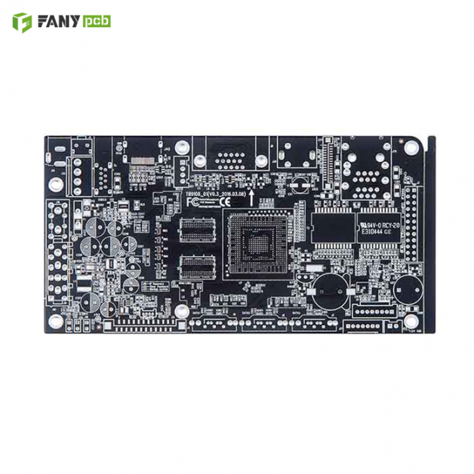Lead-Free HASL Double-Sided PCB Circuit Board with Black Soldermask