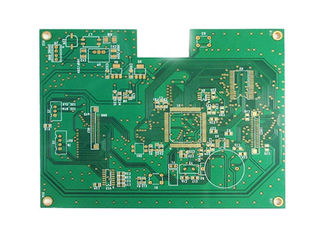 China Matt Green Solder Mask 4 layers Immersion Gold Finishing Rigid FR4 PCB factory