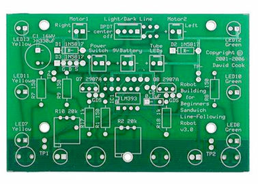 HAL / ENIG Double Sided PCB 94v-0 Two Layer Flex Rigid PCB Manufacturer