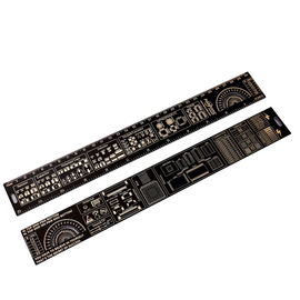 China Double Sided Fr4 PCB Accessories Positive And Negative Side 180 Degree Protractors factory