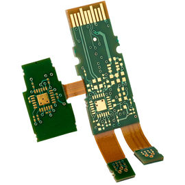Immerison Gold 8 Layer PCB , Rigid Flex PCB PCBA For Telecommunication