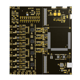 Black 94v0 FR4 Multilayer PCB 4 Layer / 6 Layer Electronics Circuit Board