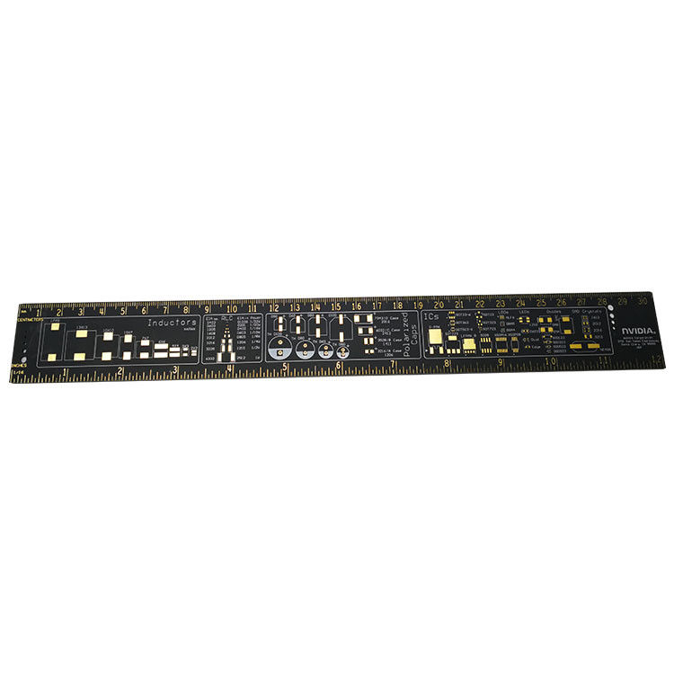 15cm / 20cm / 25cm / 30cm Gold Plated Pcb Reference Ruler Multifunctional Measuring Tool supplier