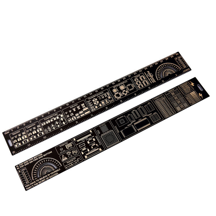 Double Sided Fr4 PCB Accessories Positive And Negative Side 180 Degree Protractors supplier