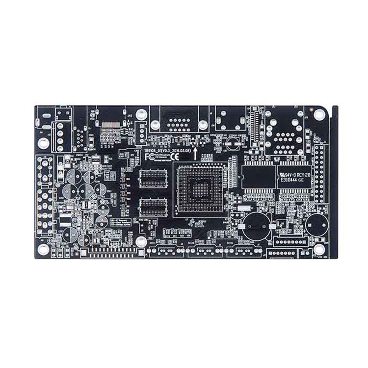Lead-Free HASL Double-Sided PCB Circuit Board with Black Soldermask supplier